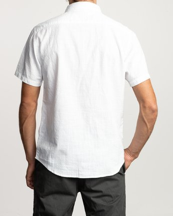 1 That'll Do Dobby Button-Up Shirt White M503VRDD RVCA