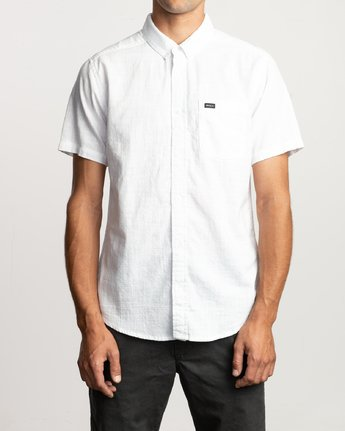 0 That'll Do Dobby Button-Up Shirt White M503VRDD RVCA