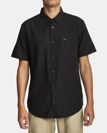 3 THAT'LL DO DOBBY BUTTON-UP SHIRT Black M503VRDD RVCA