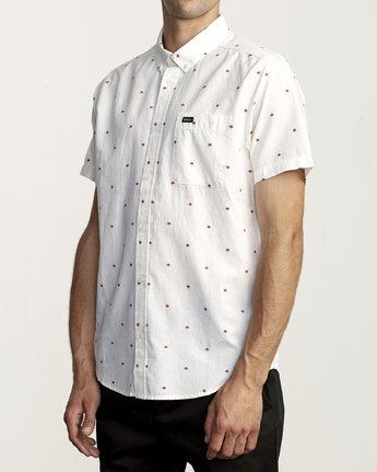 3 THATLL DO DOBBY SHORT SLEEVE SHIRT White M503VRDD RVCA