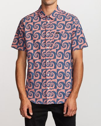 0 Whirlpool Button-Up Shirt Red M503VRWP RVCA