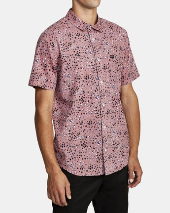 3 OLIVER SHORT SLEEVE SHIRT Purple M5042ROL RVCA