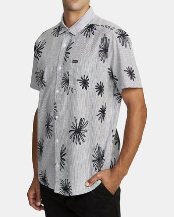 2 WHIRLS SHORT SLEEVE SHIRT Black M5052RWH RVCA