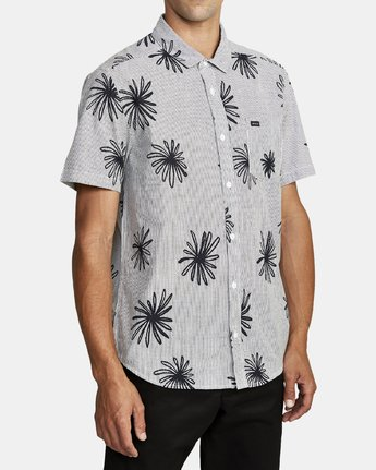 3 WHIRLS SHORT SLEEVE SHIRT Black M5052RWH RVCA