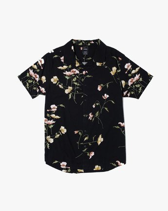 0 LAZARUS FLORAL BUTTON-UP SHIRT Black M5061RLF RVCA