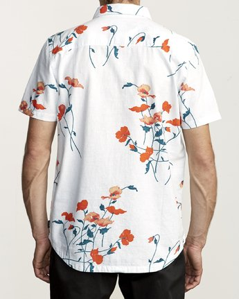 3 LAZARUS FLORAL BUTTON-UP SHIRT White M5061RLF RVCA