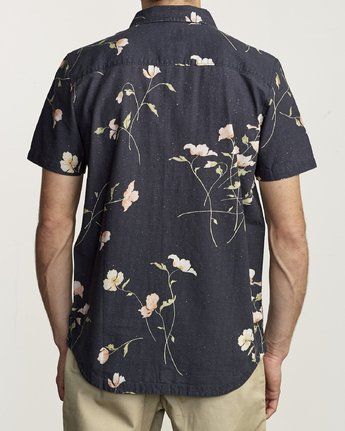 2 LAZARUS FLORAL BUTTON-UP SHIRT Black M5061RLF RVCA