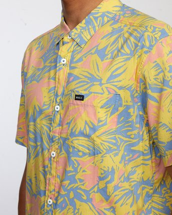 8 SANDERSON FLORAL SHORT SLEEVE SHIRT Blue M5063RSF RVCA