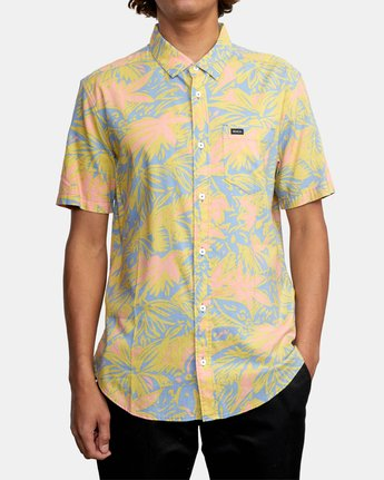 6 SANDERSON FLORAL SHORT SLEEVE SHIRT Blue M5063RSF RVCA
