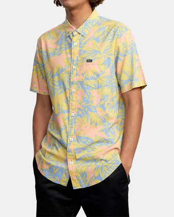 9 SANDERSON FLORAL SHORT SLEEVE SHIRT Blue M5063RSF RVCA