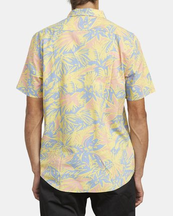 3 SANDERSON FLORAL SHORT SLEEVE SHIRT Blue M5063RSF RVCA