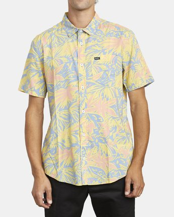 2 SANDERSON FLORAL SHORT SLEEVE SHIRT Blue M5063RSF RVCA