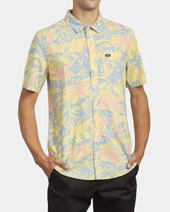 5 SANDERSON FLORAL SHORT SLEEVE SHIRT Blue M5063RSF RVCA