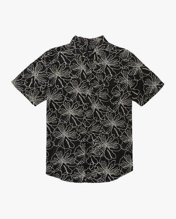 0 Blind Floral Button-Up Shirt Black M506VRBF RVCA
