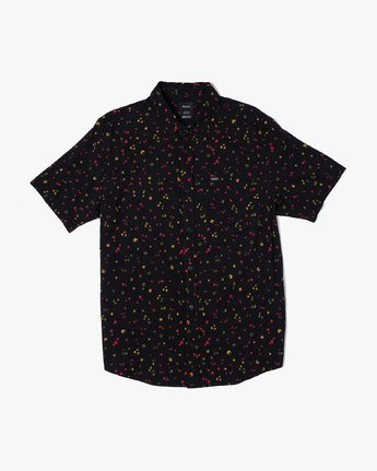4 CALICO BUTTON-UP SHIRT Black M5071RCL RVCA