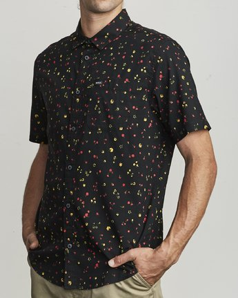 1 CALICO BUTTON-UP SHIRT Black M5071RCL RVCA