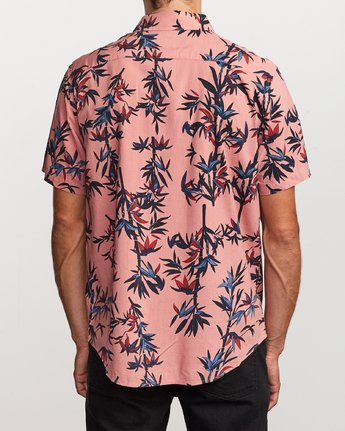 3 Bamboozled Button-Up Shirt Pink M507VRBB RVCA