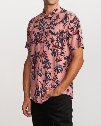 2 Bamboozled Button-Up Shirt Pink M507VRBB RVCA