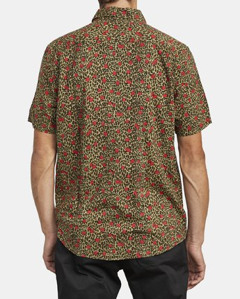 2 JUNGLE FUZZ SHORT SLEEVE SHIRT Beige M5083RJF RVCA