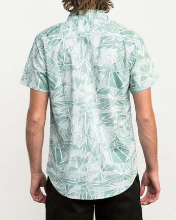 3 Blade Printed Button-Up Shirt Green M508QRBL RVCA
