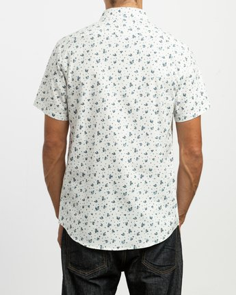 3 That'll Do Print Button-Up Shirt White M508TRTP RVCA