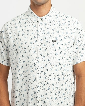 4 That'll Do Print Button-Up Shirt White M508TRTP RVCA