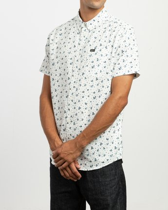 2 That'll Do Print Button-Up Shirt White M508TRTP RVCA