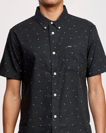 4 That'll Do Print Short Sleeve Shirt Black M508TRTP RVCA