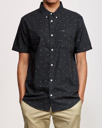 1 That'll Do Print Short Sleeve Shirt Black M508TRTP RVCA