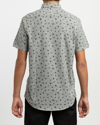 3 That'll Do Print Button-Up Shirt Multicolor M508TRTP RVCA