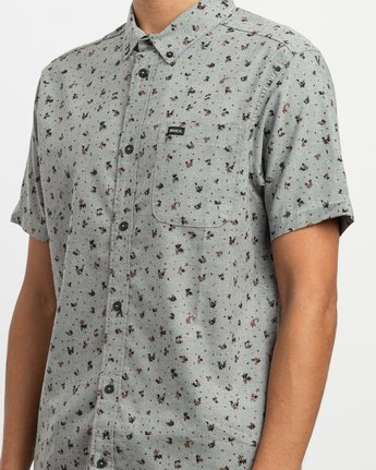 4 That'll Do Print Button-Up Shirt Multicolor M508TRTP RVCA