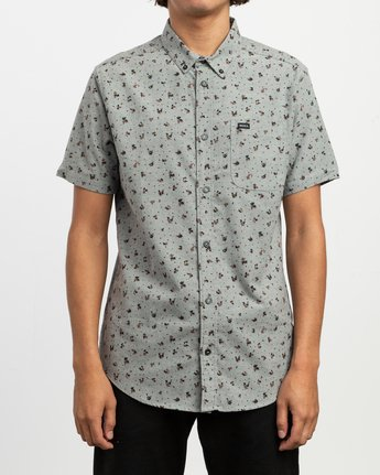 1 That'll Do Print Button-Up Shirt Multicolor M508TRTP RVCA