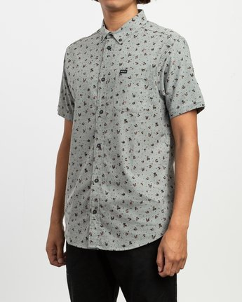 2 That'll Do Print Button-Up Shirt Multicolor M508TRTP RVCA