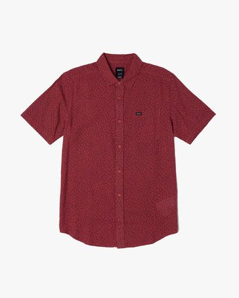 2 PRESIDIO BUTTON-UP SHIRT Red M5091RPR RVCA
