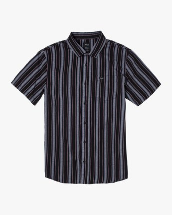 10 TOPPER STRIPE SHORT SLEEVE SHIRT Black M5092RTP RVCA