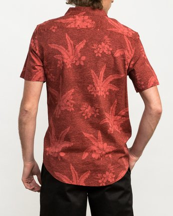 3 Andrew Reynolds Hawaiian Button-Up Shirt Red M509QRAR RVCA