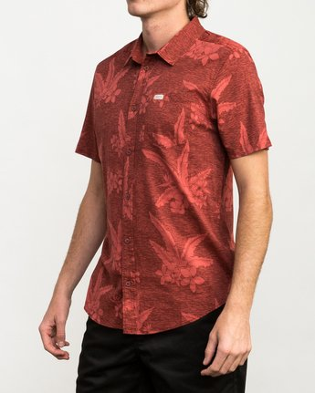2 Andrew Reynolds Hawaiian Button-Up Shirt Red M509QRAR RVCA