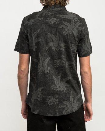 3 Andrew Reynolds Hawaiian Button-Up Shirt Black M509QRAR RVCA