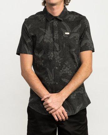1 Andrew Reynolds Hawaiian Button-Up Shirt Black M509QRAR RVCA