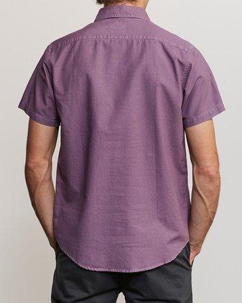 3 That'll Butter Button-Up Shirt Purple M509TRTB RVCA