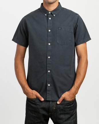 1 That'll Butter Button-Up Shirt Black M509TRTB RVCA