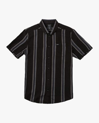 4 Split Stripe Button-Up Shirt Black M509VRSS RVCA