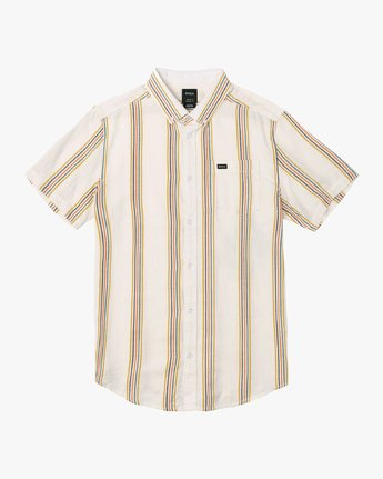 5 Split Stripe Button-Up Shirt White M509VRSS RVCA