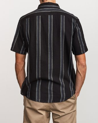 1 Split Stripe Button-Up Shirt Black M509VRSS RVCA