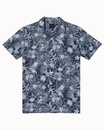 1 SPACED FLORAL SHORT SLEEVE SHIRT Blue M5103RSF RVCA