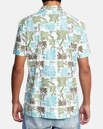 1 Oblow Palms Short Sleeve Shirt White M5104ROP RVCA
