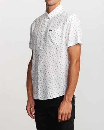 2 Prelude Floral Button-Up Shirt White M511VRPF RVCA
