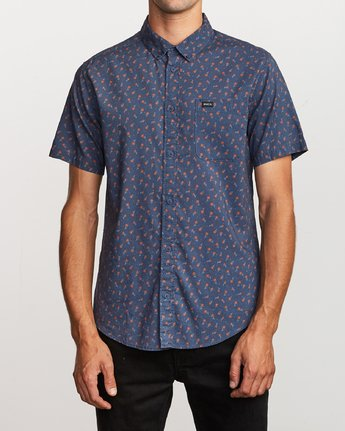 1 Prelude Floral Button-Up Shirt Blue M511VRPF RVCA