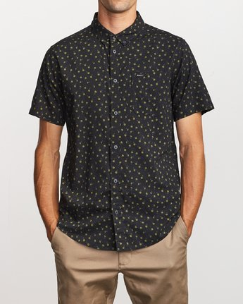 0 Prelude Floral Button-Up Shirt Black M511VRPF RVCA
