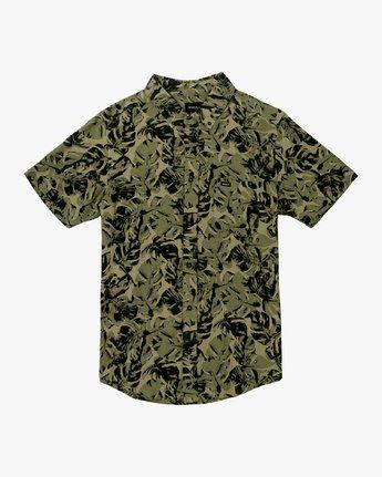 4 Leaf Camo Button-Up Shirt Black M512VRLC RVCA